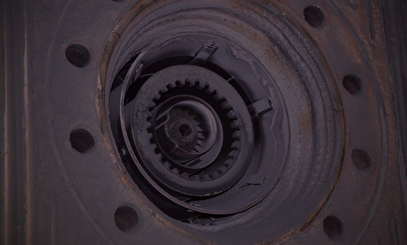 Henkel Wartung Turbine Schaden Dokumentieren mit Hochstativ