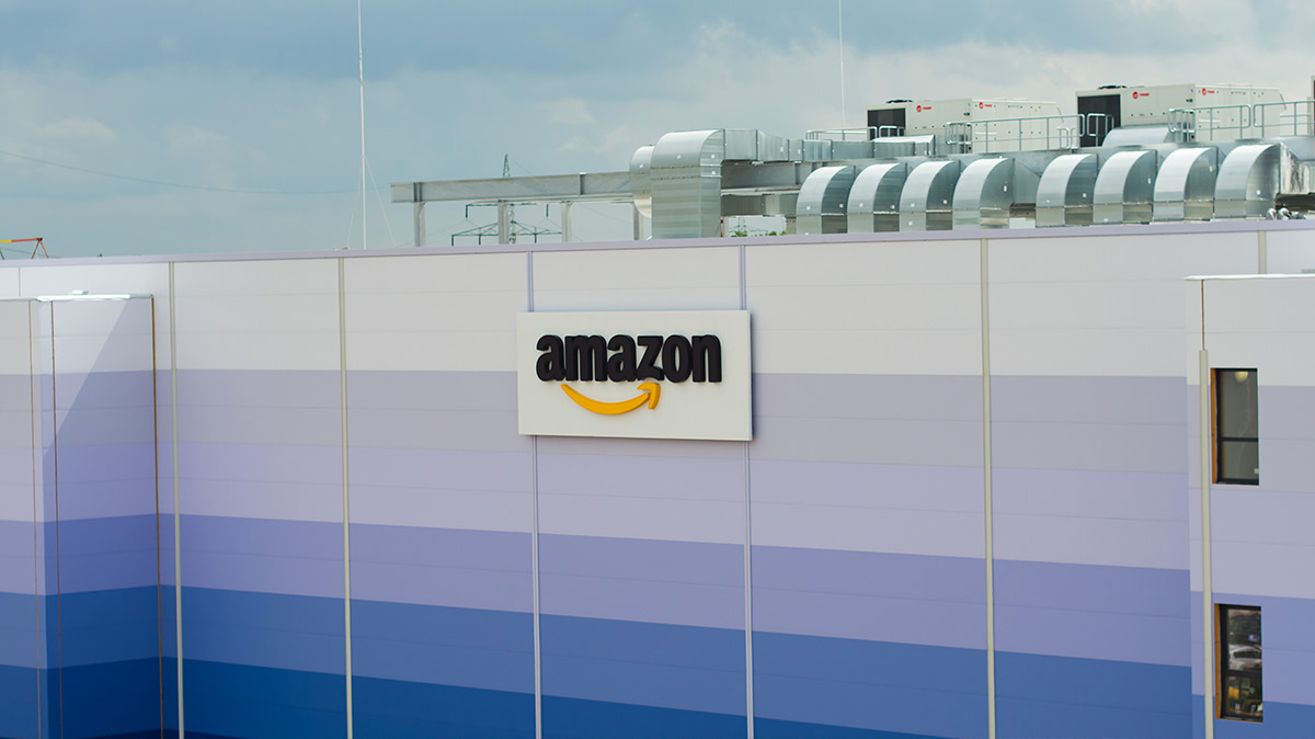 Luftbild Baudokumentation Logistikzentrum Amazon