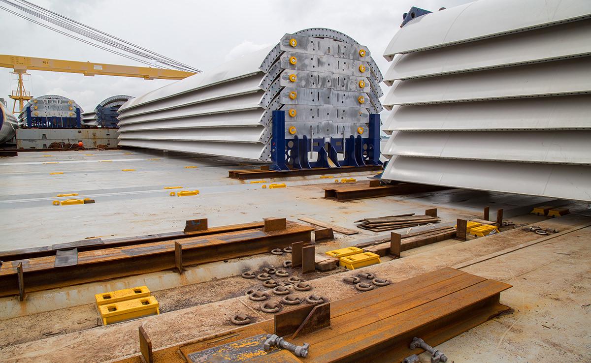 Marlow Navigation Video Dokumentation - Eurogate Bremerhaven - Vestas Verladung Schiff