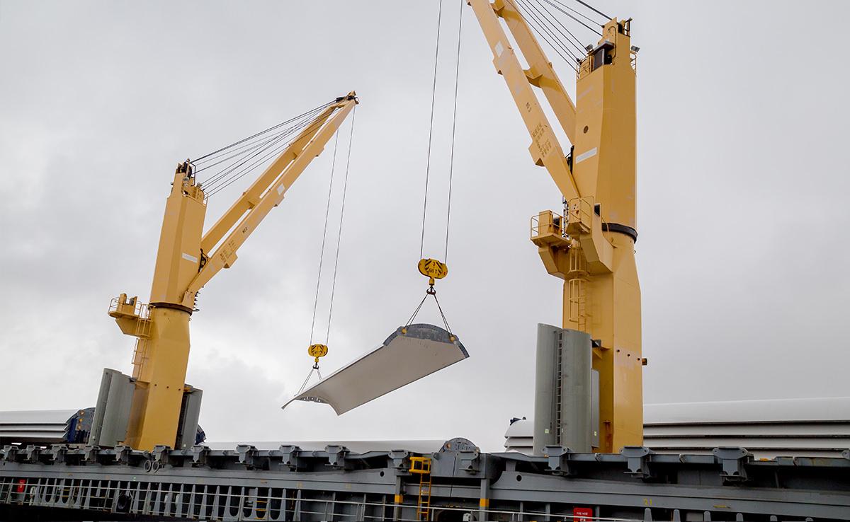 Marlow Navigation Video Dokumentation - Eurogate Bremerhaven - Vestas Verladung