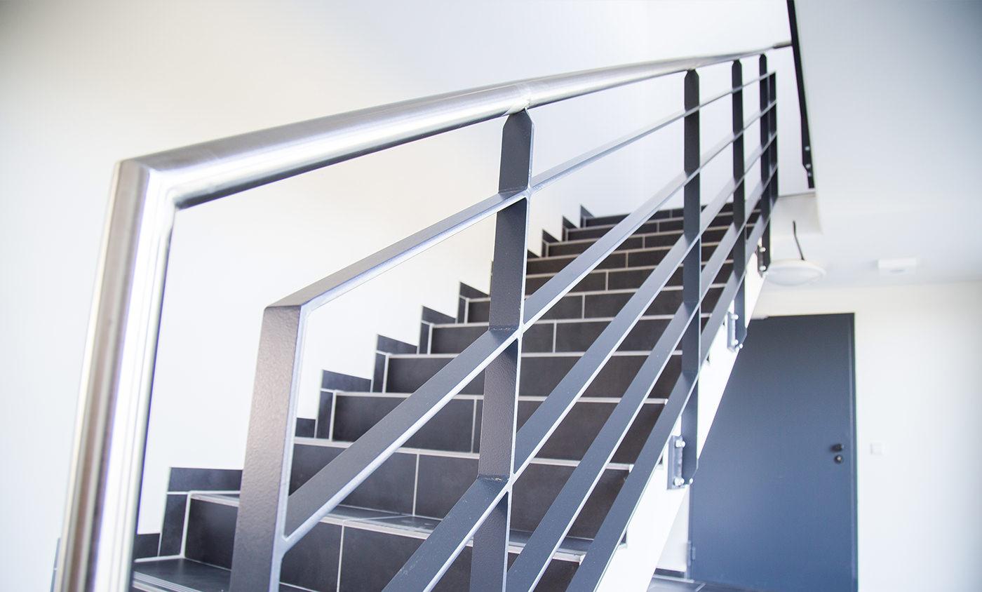 Max Boegl - Baudokumentation - Logistikhalle - Treppenaufgang