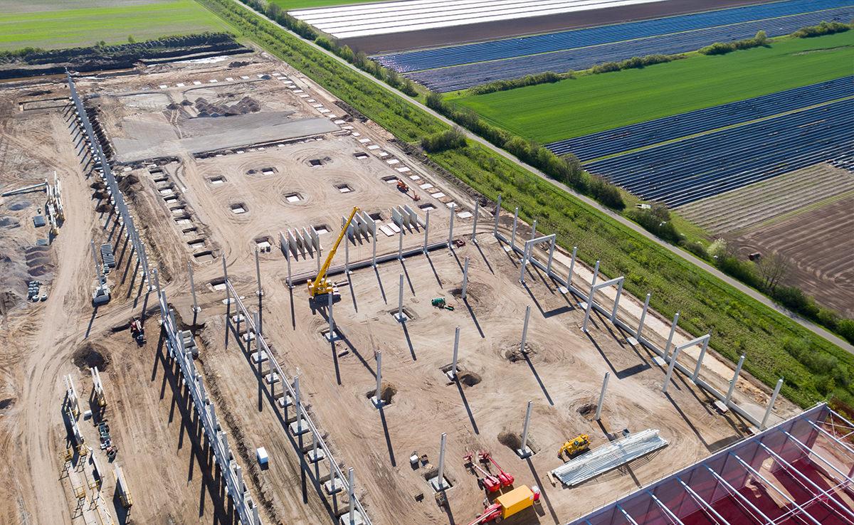 Projekt Baudokumentation IDI Gazeley - Rohbau Luftbild