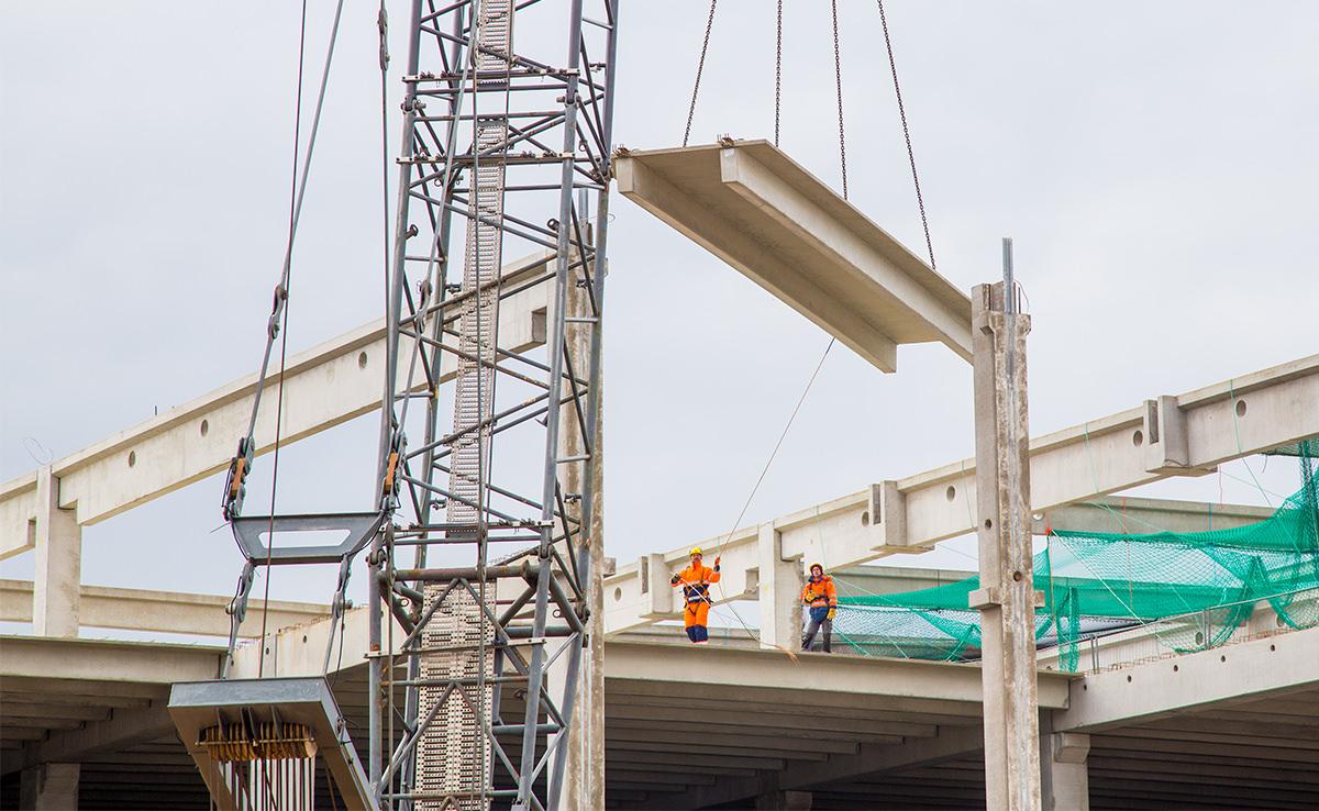 Projekt Baudokumentation IDI Gazeley - Stahlträger