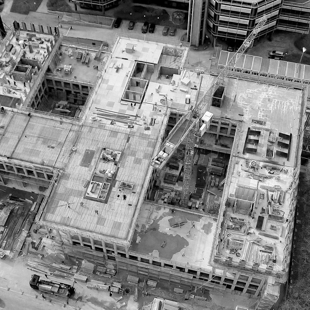 Projekt Riedel Bau Baudokumentation - Draufsicht